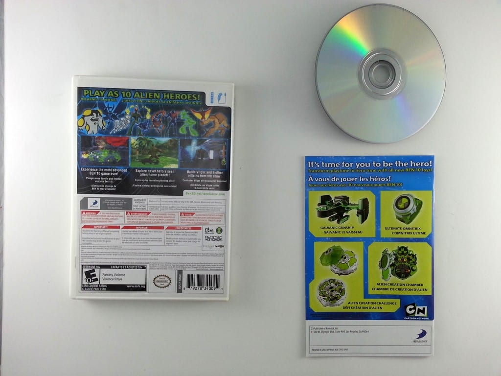 Ben 10: Alien Force: Vilgax Attacks game for Wii (Complete)   The Game Guy