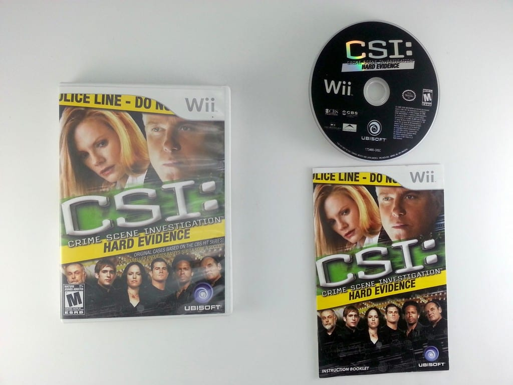 CSI Hard Evidence game for Nintendo Wii -Complete
