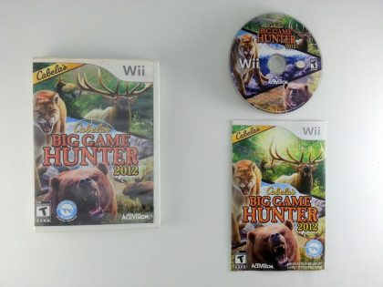 Cabela's Big Game Hunter 2012  game for Nintendo Wii -Complete