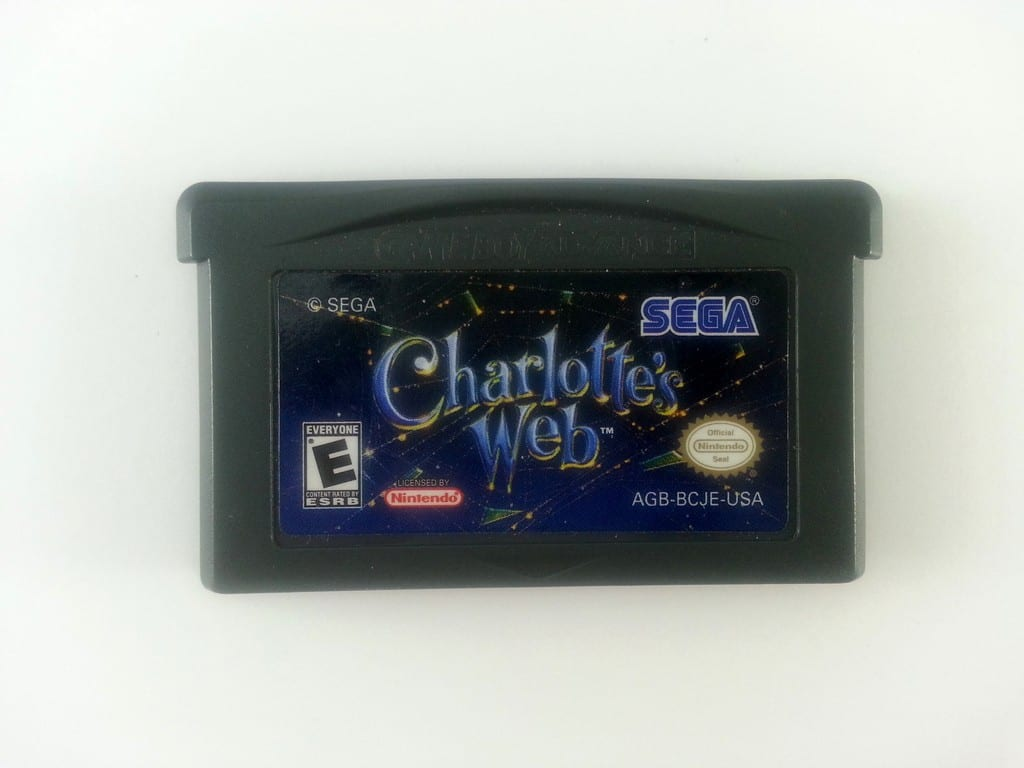 Charlotte's Web game for Nintendo Gameboy Advance - Loose