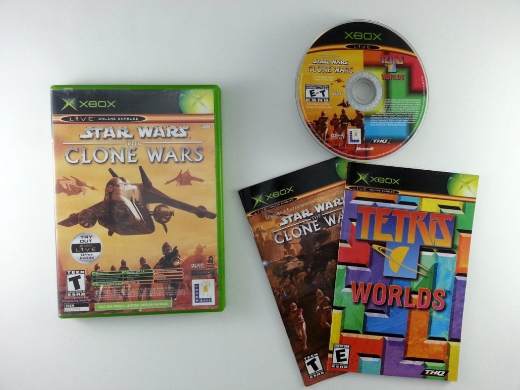 Clone Wars Tetris Worlds Combo Pack game for Microsoft Xbox -Complete