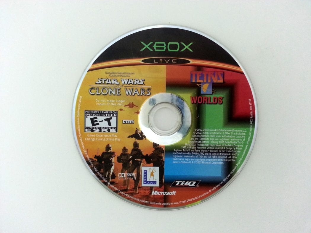 Clone Wars Tetris Worlds Combo Pack game for Microsoft Xbox - Loose