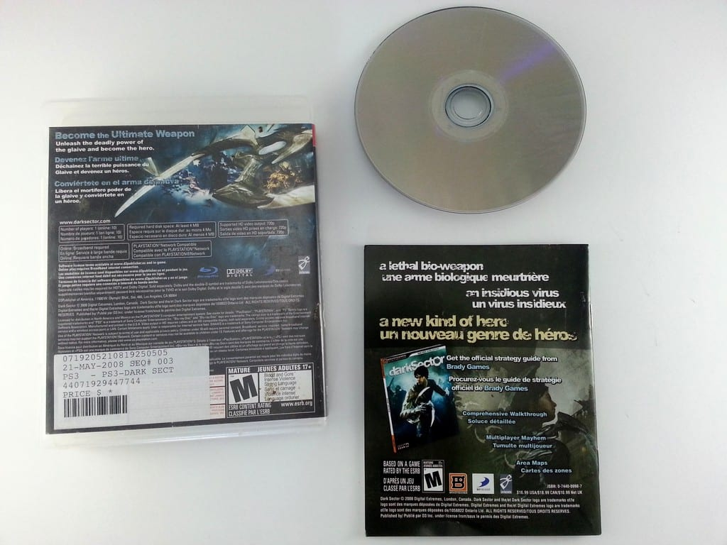 Dark Sector game for Playstation 3 (Complete)   The Game Guy