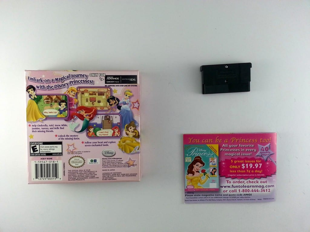 Disney Princess Royal Adventure game for GameBoy Advance (Complete) | The Game Guy