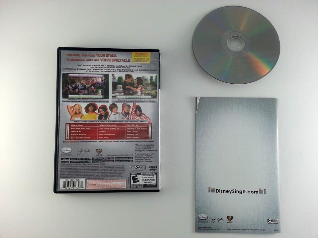 Disney Sing It High School Musical 3 Bundle game for Playstation 2 (Complete) | The Game Guy