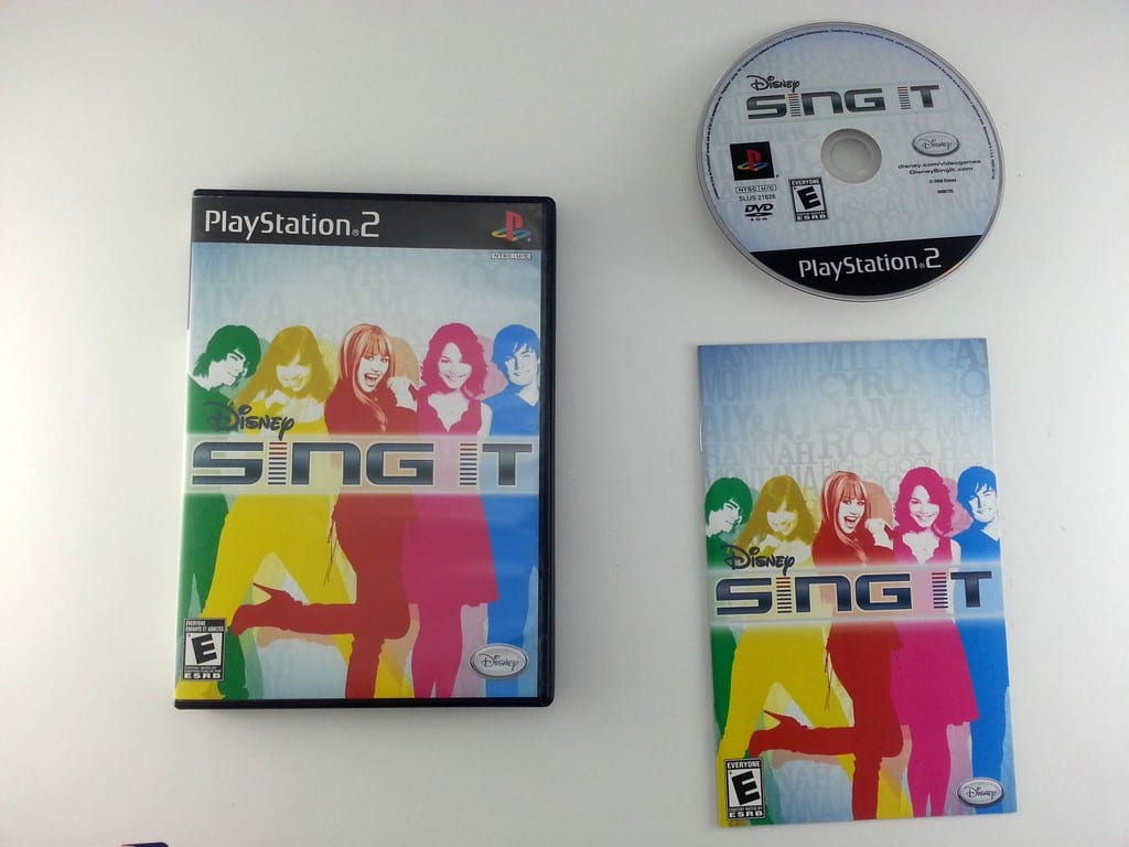 Disney Sing It game for Sony Playstation 2 PS2 -Complete