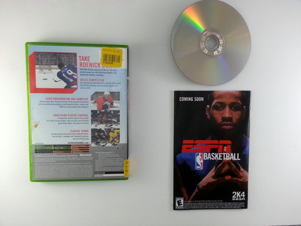 ESPN Hockey 2004 game for Xbox (Complete) | The Game Guy
