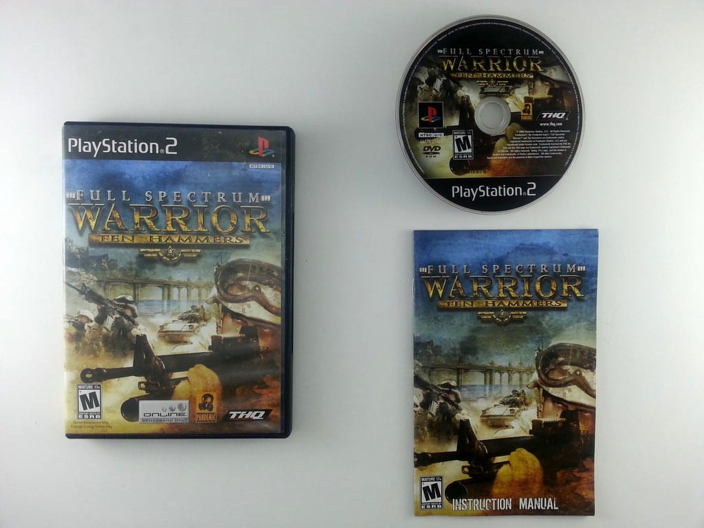 Full Spectrum Warrior Ten Hammers game for Sony Playstation 2 PS2 -Complete
