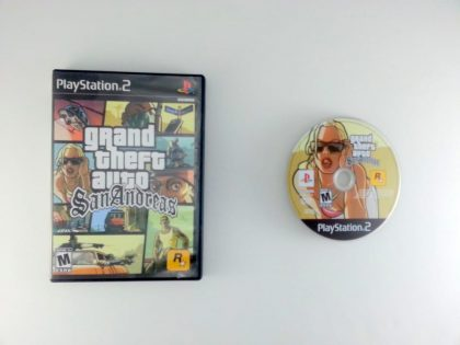 Grand Theft Auto San Andreas game for Sony Playstation 2 PS2 -Game & Case