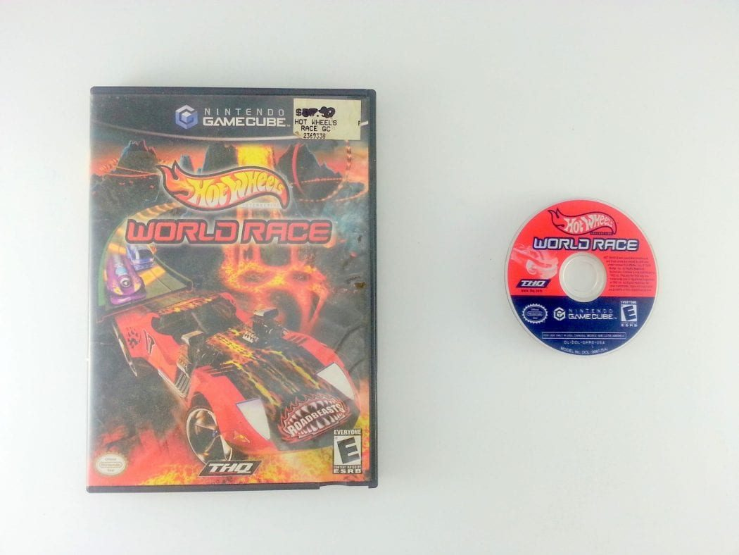 Hot Wheels World Race game for Nintendo Gamecube -Game & Case