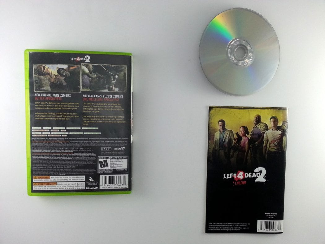 Left 4 Dead 2 game for Microsoft Xbox 360 -Complete