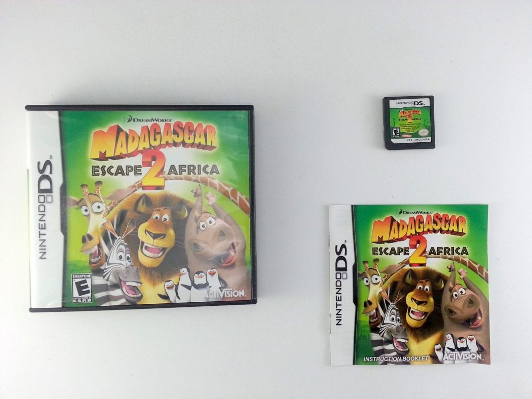 Madagascar Escape 2 Africa game for Nintendo DS -Complete