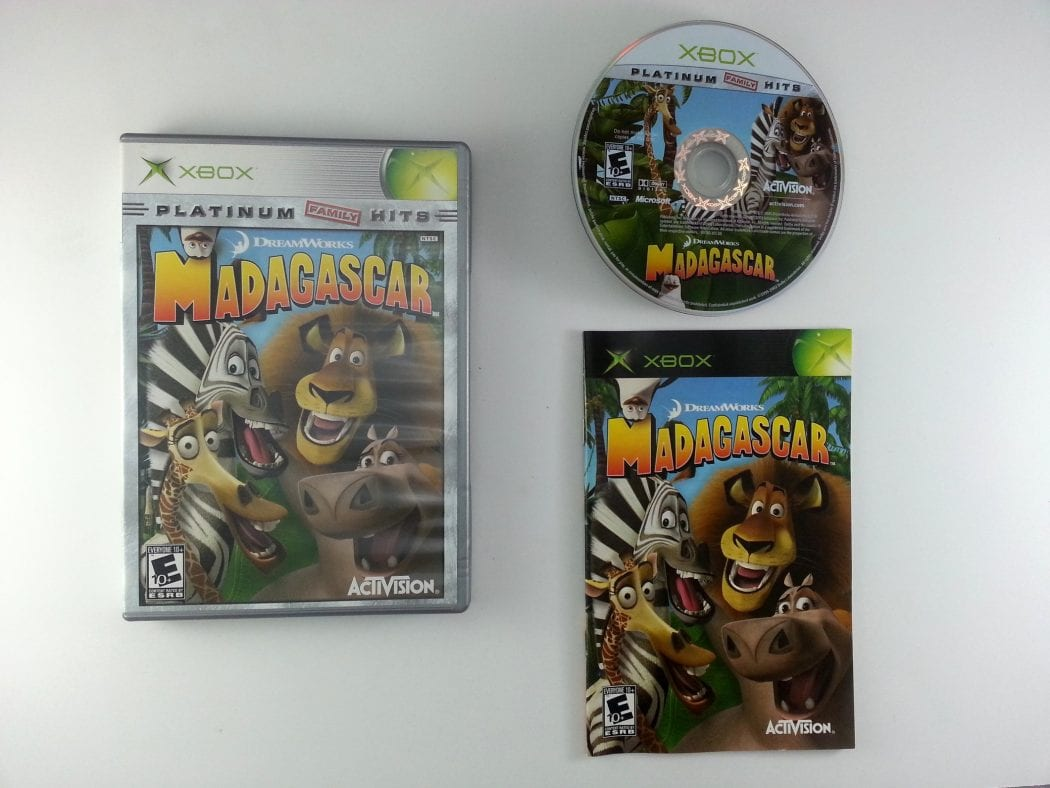 Madagascar game for Microsoft Xbox -Complete