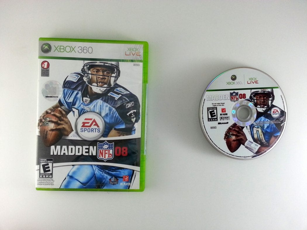 Madden 2008 game for Microsoft Xbox 360 -Game & Case