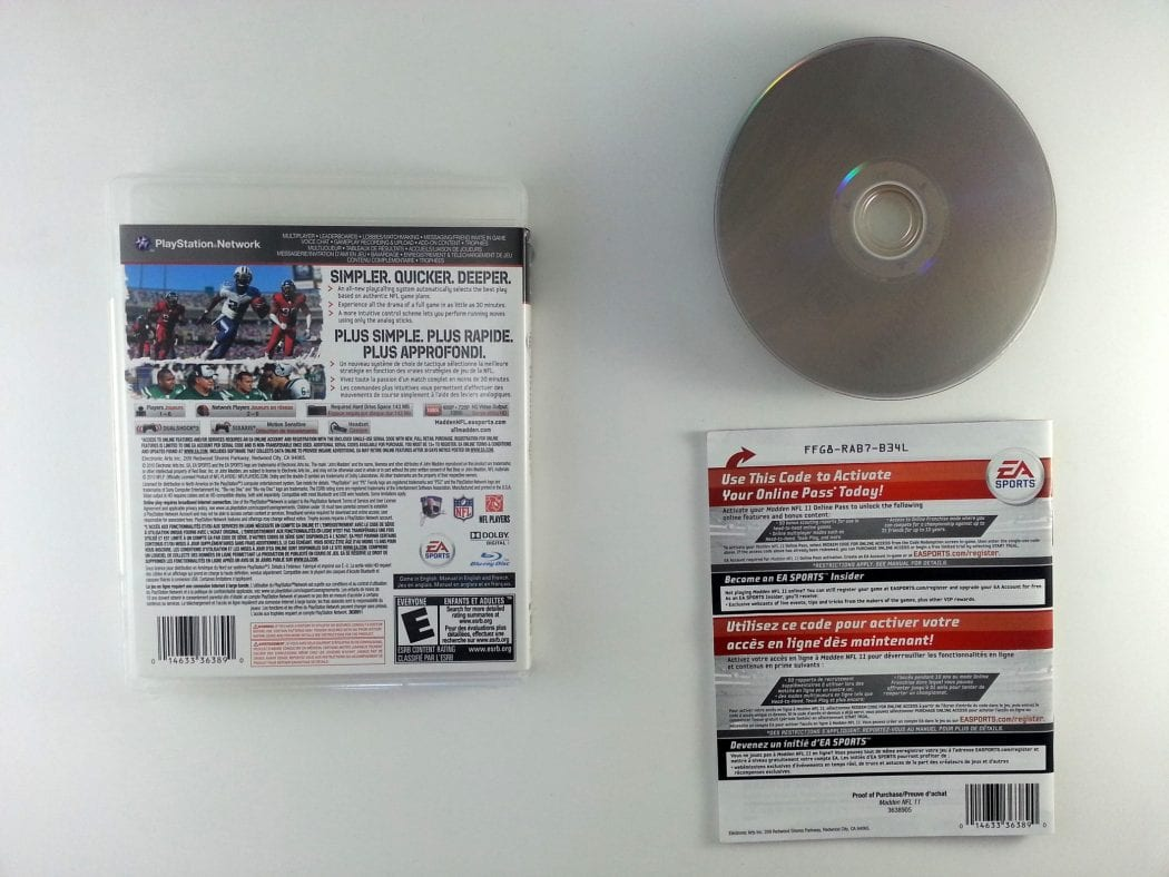 Madden NFL 11 game for Playstation 3 (Complete) | The Game Guy