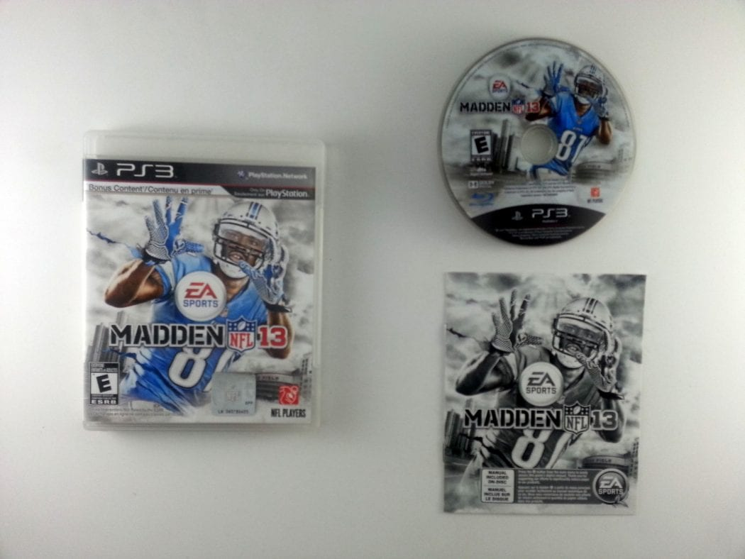 Madden NFL 13 game for Sony Playstation 3 PS3 -Complete