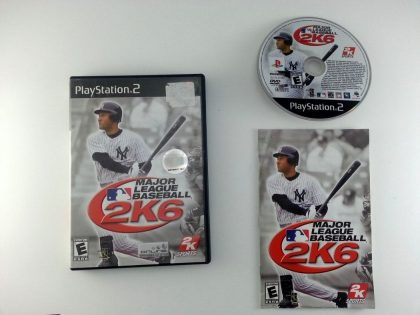 Major League Baseball 2K6 game for Sony Playstation 2 PS2 -Complete