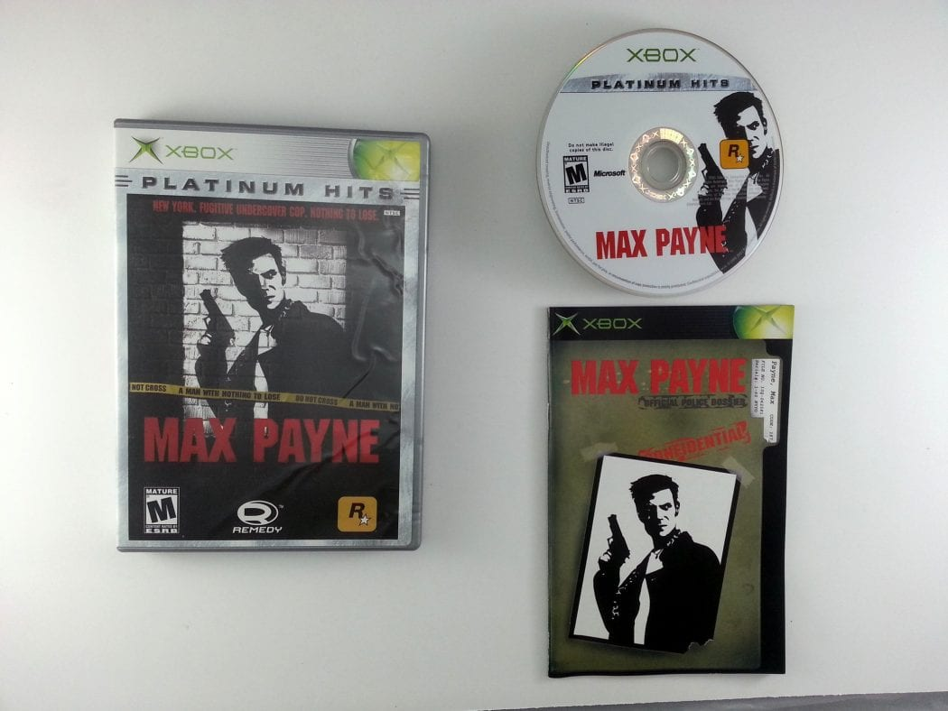 Max Payne game for Microsoft Xbox -Complete