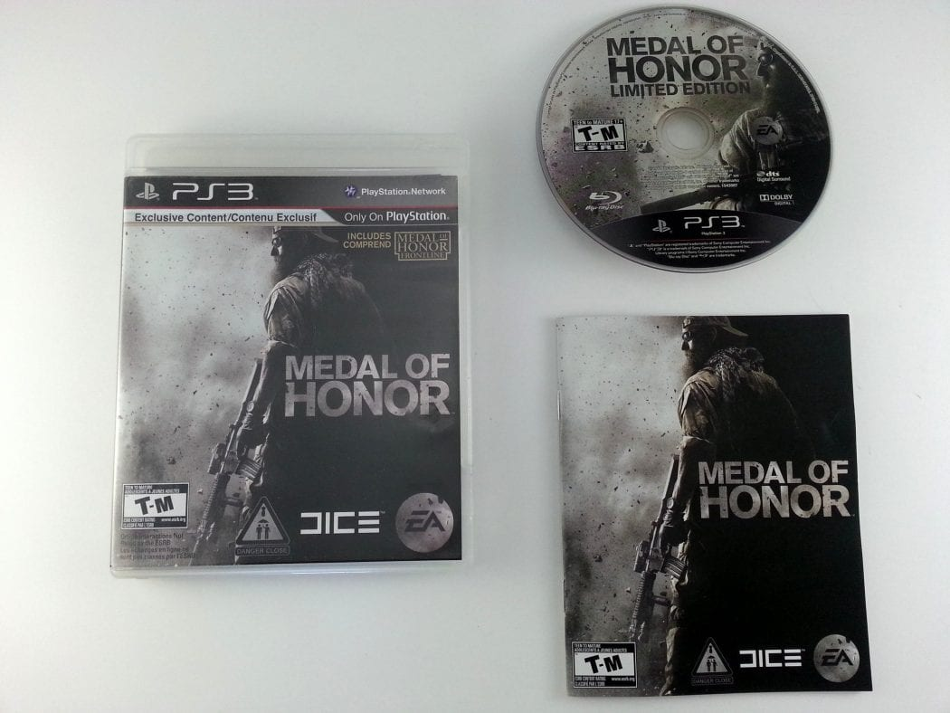 Medal of Honor game for Sony Playstation 3 PS3 -Complete