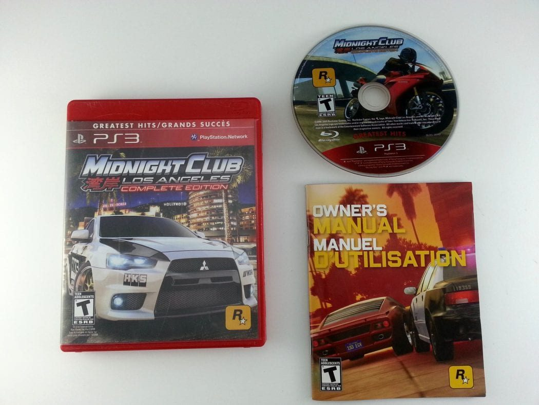 Midnight Club Los Angeles Complete Edition game for Playstation 3 PS3 -Complete