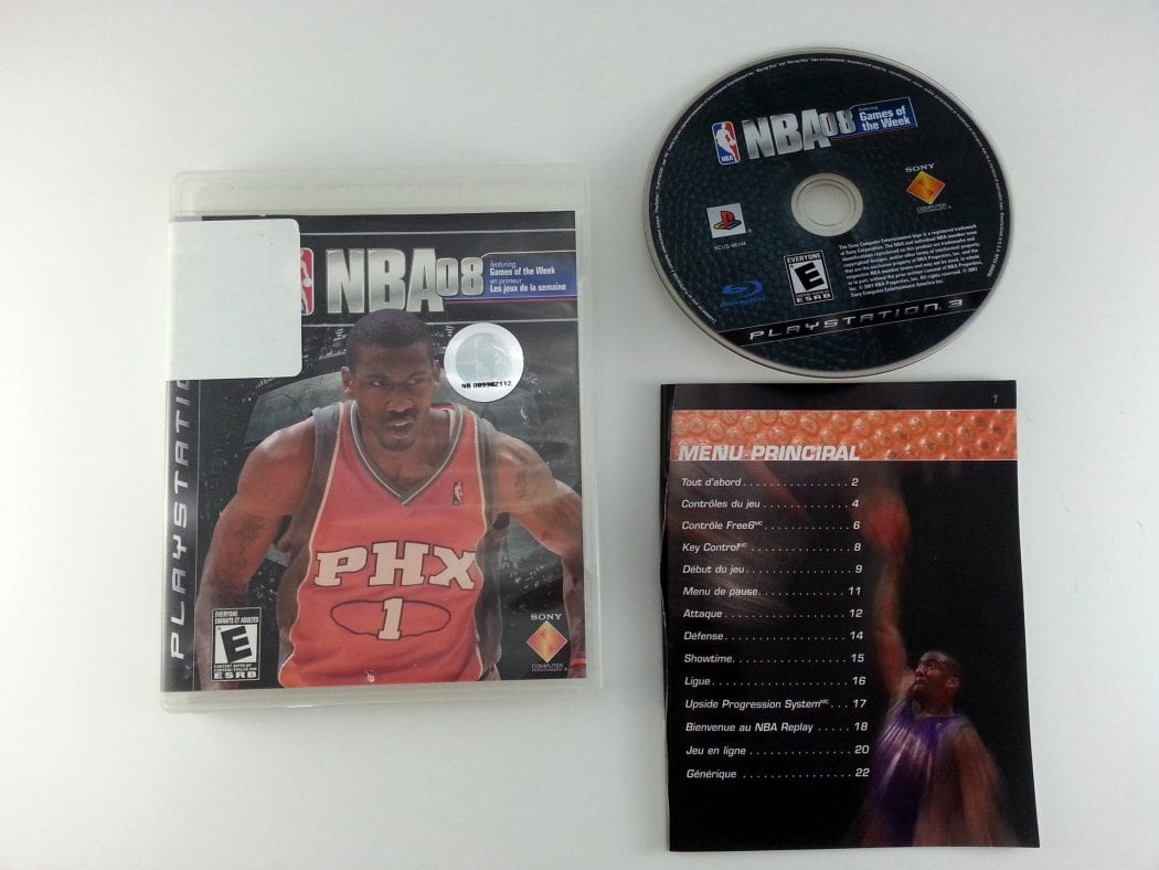 NBA 08 game for Sony Playstation 3 PS3 -Complete