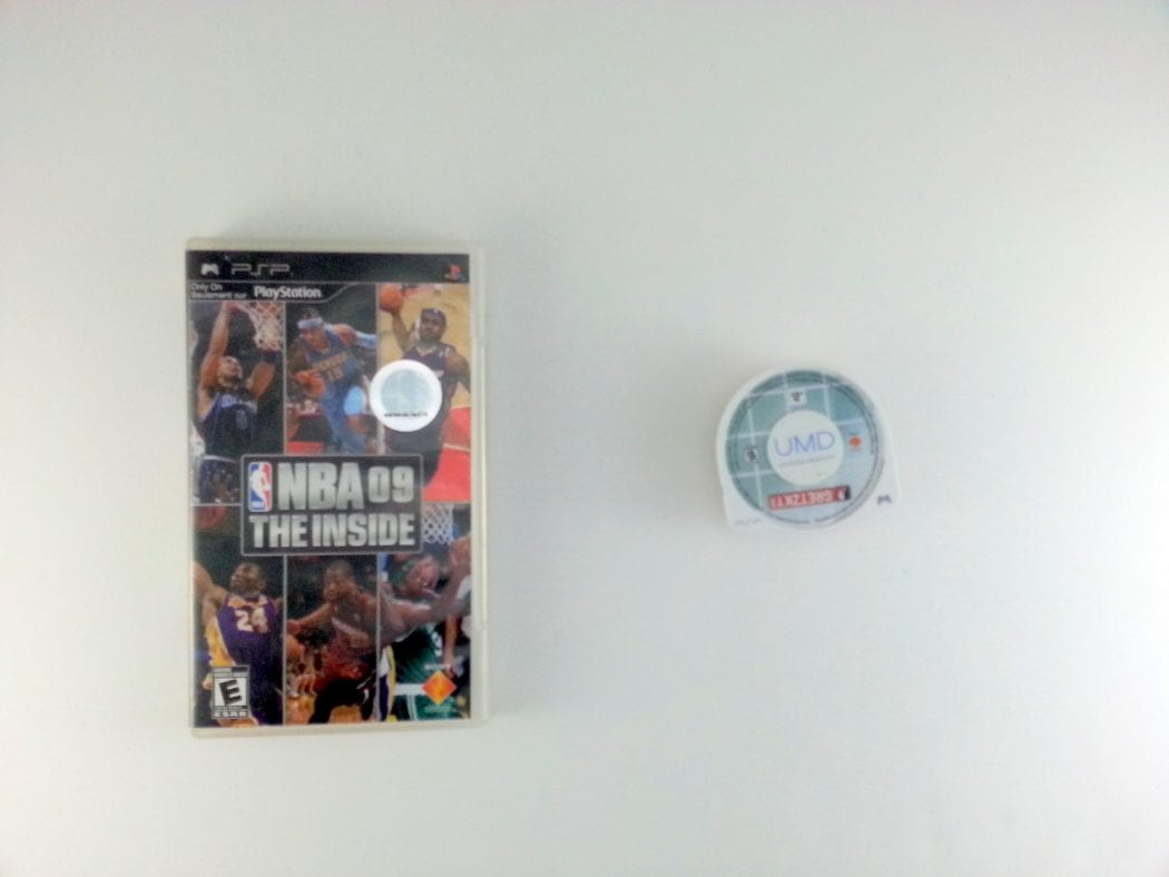 NBA 09 The Inside game for Sony PSP -Game & Case