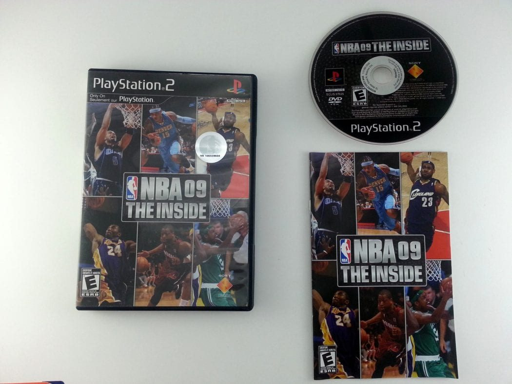 NBA 09 The Inside game for Sony Playstation 2 PS2 -Complete