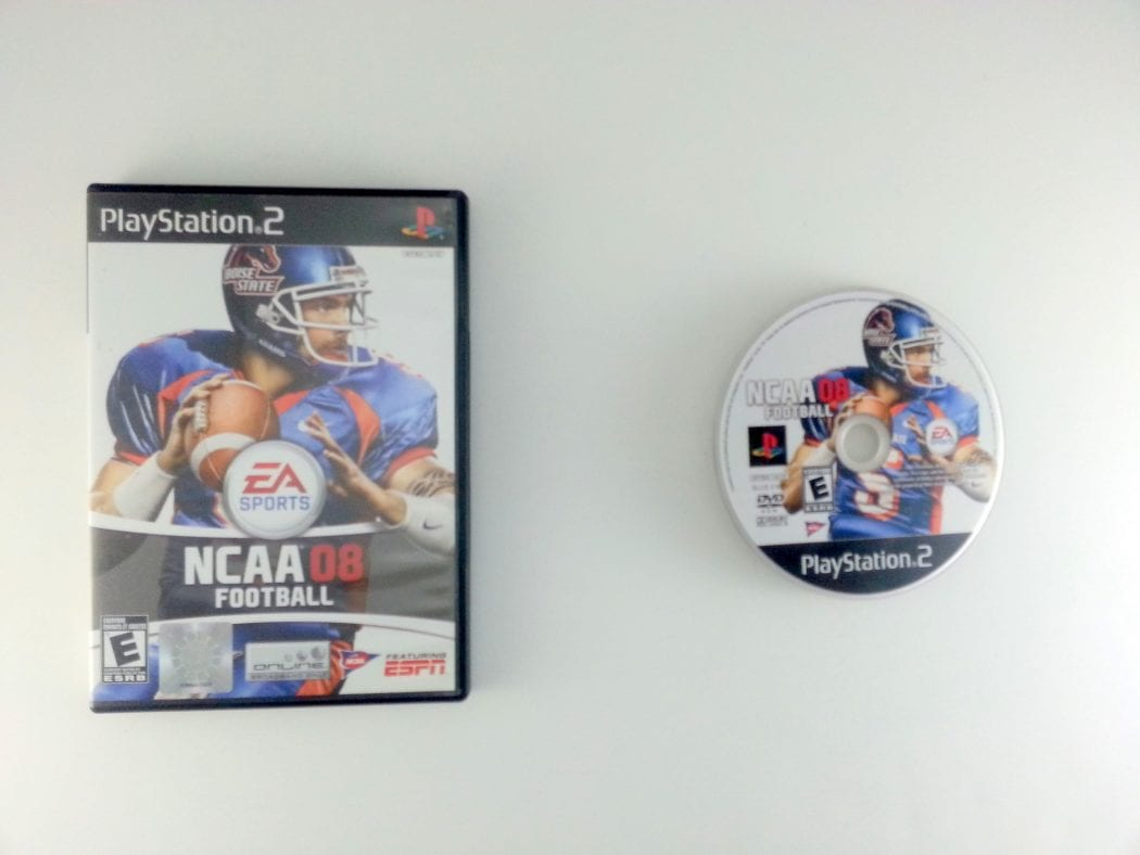 NCAA Football 08 game for Sony Playstation 2 PS2 -Game & Case