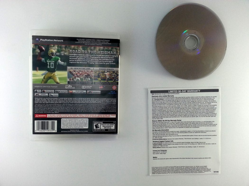 NCAA Football 13 game for Playstation 3 (Complete) | The Game Guy