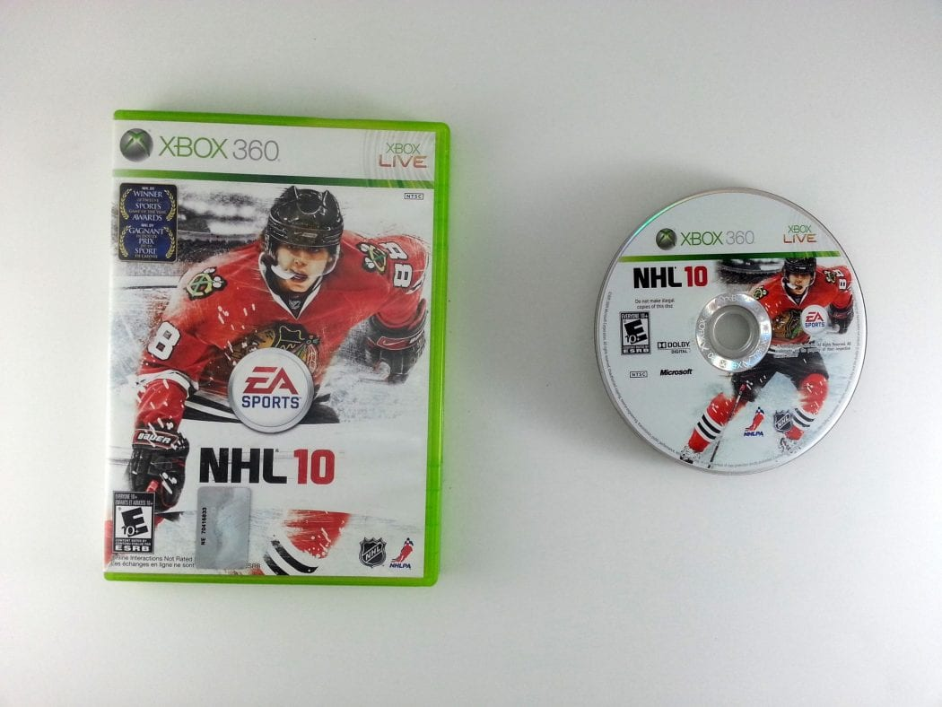 NHL 10 game for Microsoft Xbox 360 -Game & Case