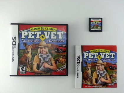 Paws & Claws Pet Vet: Australian Adventures game for Nintendo DS -Complete