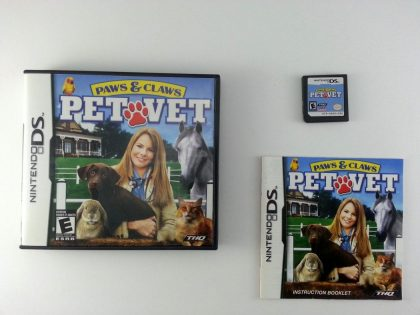 Paws & Claws Pet Vet game for Nintendo DS -Complete