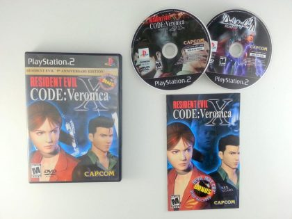 Resident Evil Code Veronica X game for Sony Playstation 2 PS2 -Complete