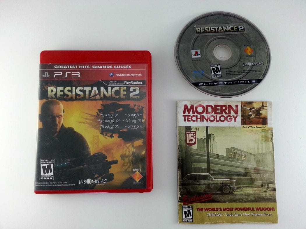 Resistance 2 game for Sony Playstation 3 PS3 -Complete