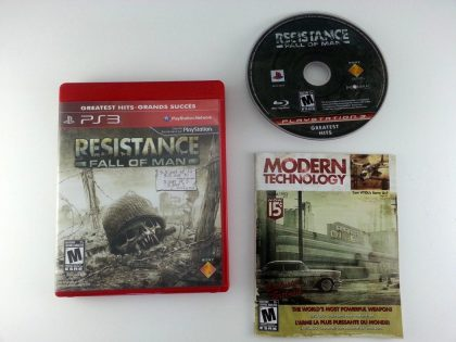 Resistance Fall of Man game for Sony Playstation 3 PS3 -Complete