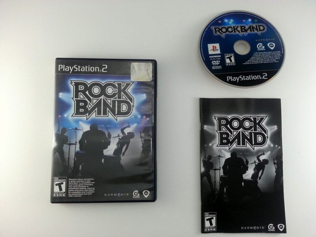 Rock Band game for Sony Playstation 2 PS2 -Complete