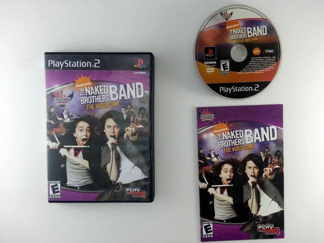 Rock University Presents The Naked Brothers Band game for PS2 Complete