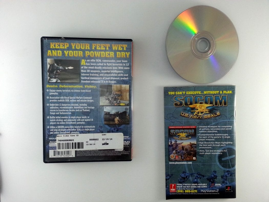 SOCOM US Navy Seals game for Playstation 2 (Complete) | The Game Guy