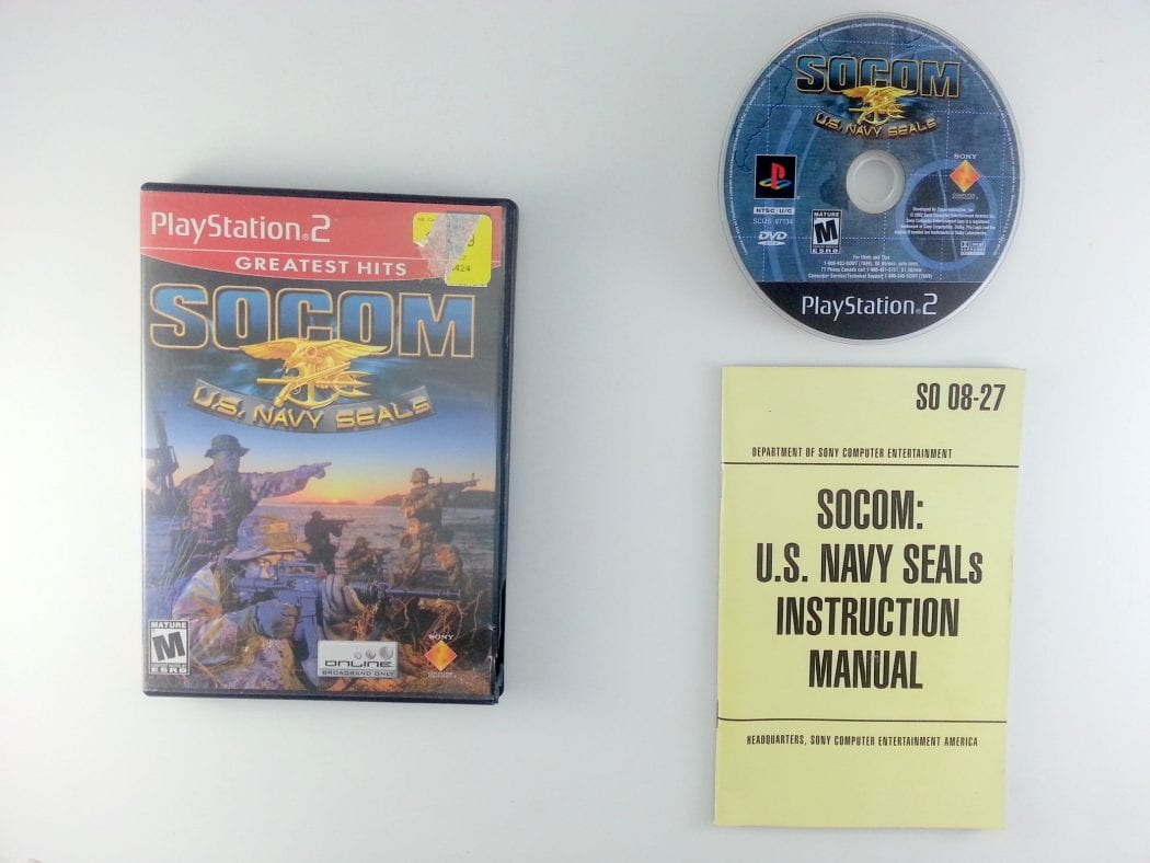 SOCOM US Navy Seals game for Sony Playstation 2 PS2 -Complete
