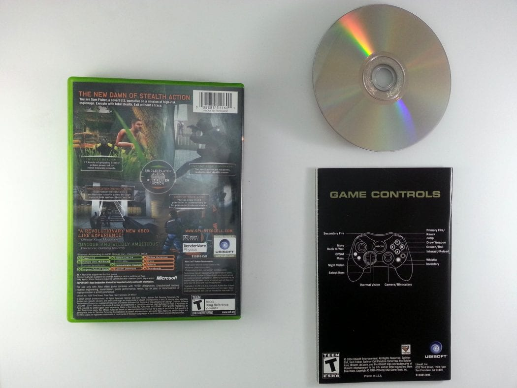 Splinter Cell Pandora Tomorrow game for Xbox (Complete)   The Game Guy