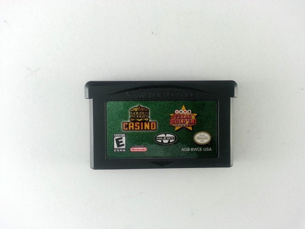 Texas Hold 'em Poker / Golden Nugget Casino game for Gameboy GBA - Loose