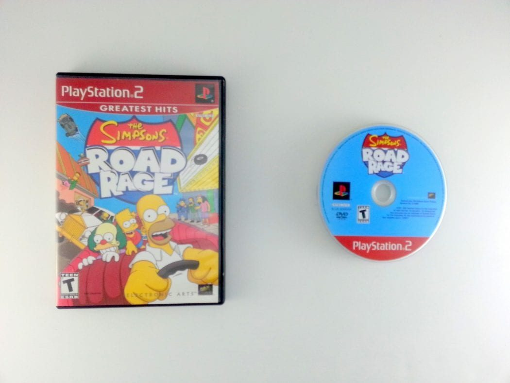 The Simpsons Road Rage game for Sony Playstation 2 PS2 -Game & Case