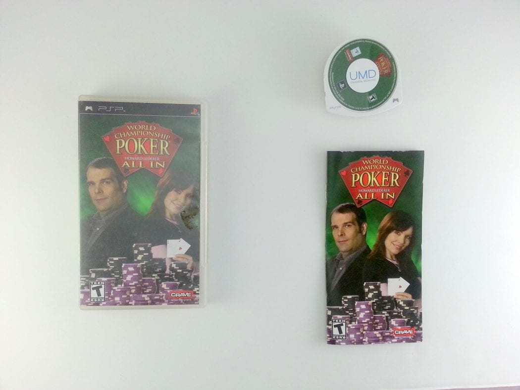 World Championship Poker All In game for Sony PSP -Complete