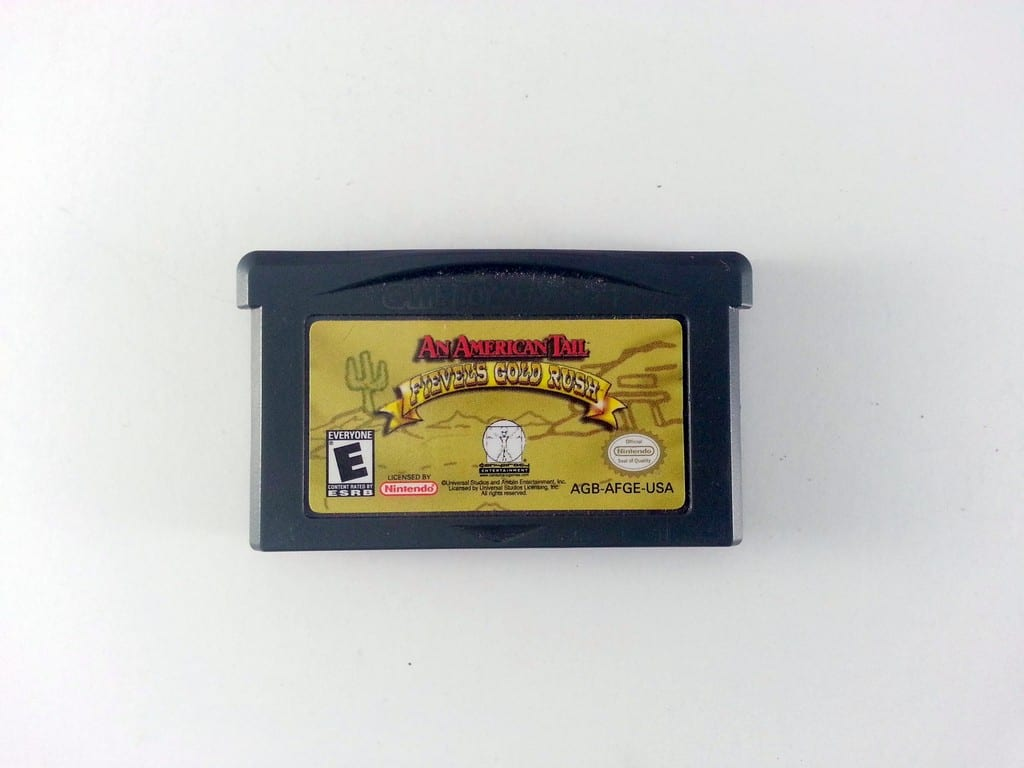 An American Tail Fievel's Gold Rush game for Nintendo Gameboy Advance - Loose