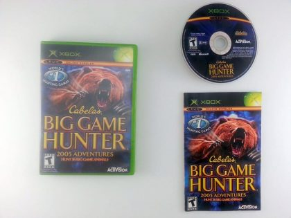 Cabela's Big Game Hunter 2005 Adventures game for Microsoft Xbox -Complete