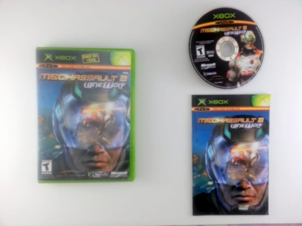 MechAssault 2 Lone Wolf game for Microsoft Xbox -Complete