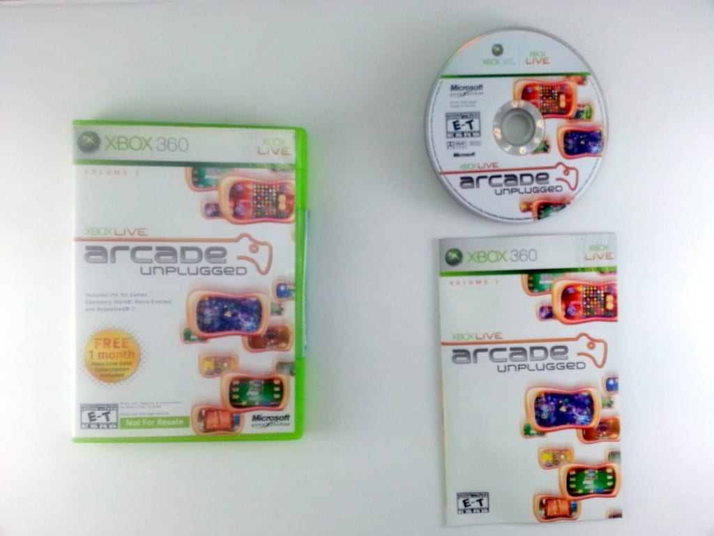 Microsoft Xbox Live Arcade Unplugged Volume 1 game for Xbox 360 Complete
