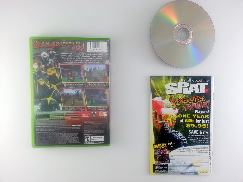 Splat Magazine Renegade Paintball game for Xbox (Complete) | The Game Guy