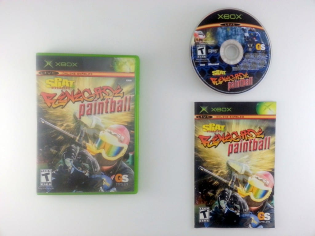 Splat Magazine Renegade Paintball game for Microsoft Xbox -Complete