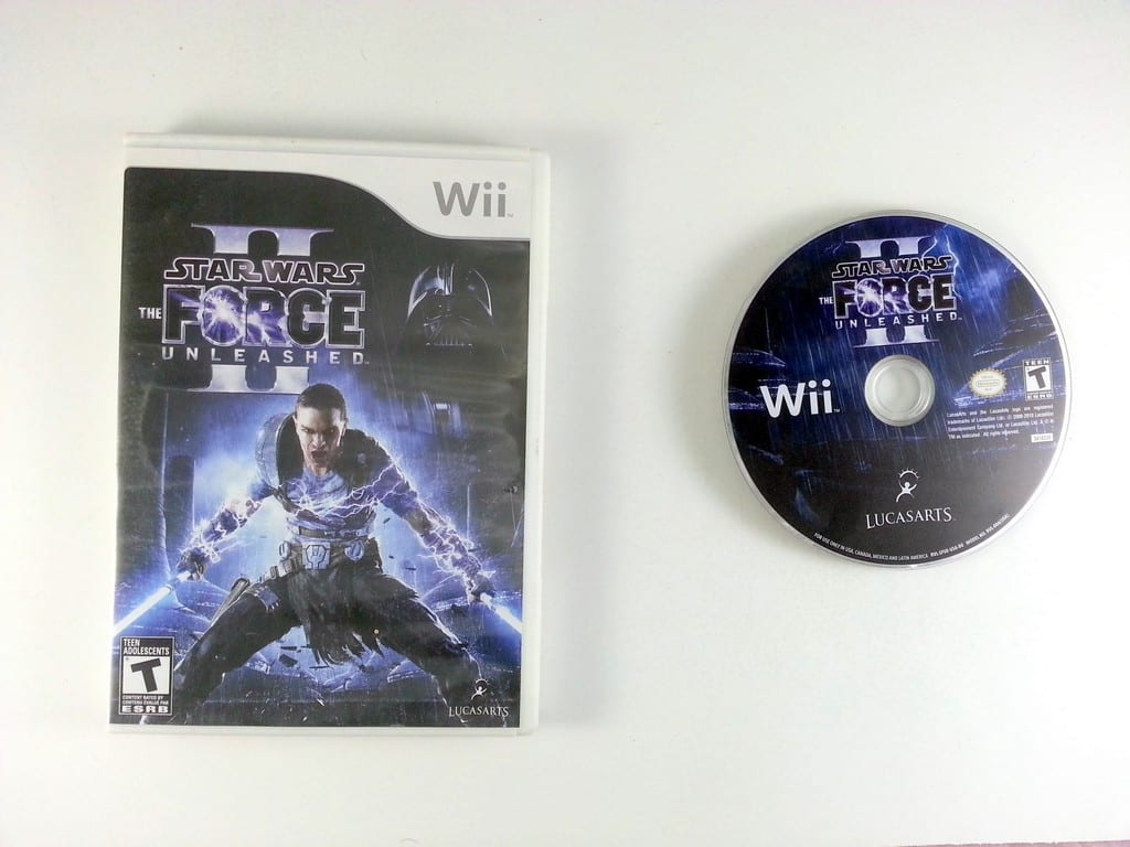Star Wars: The Force Unleashed II game for Nintendo Wii -Game & Case